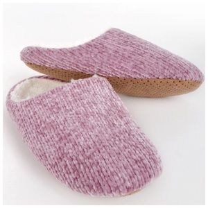 Coming Soon! Mauve Chenille Slippers